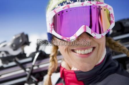 close up portrait of smiling woman