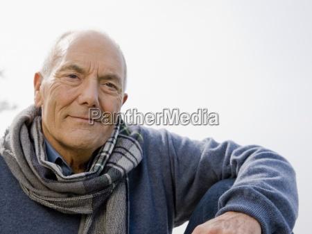 a portrait of a senior man