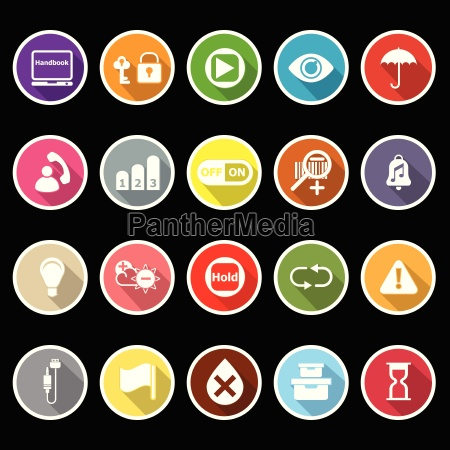 home use machine sign flat icons
