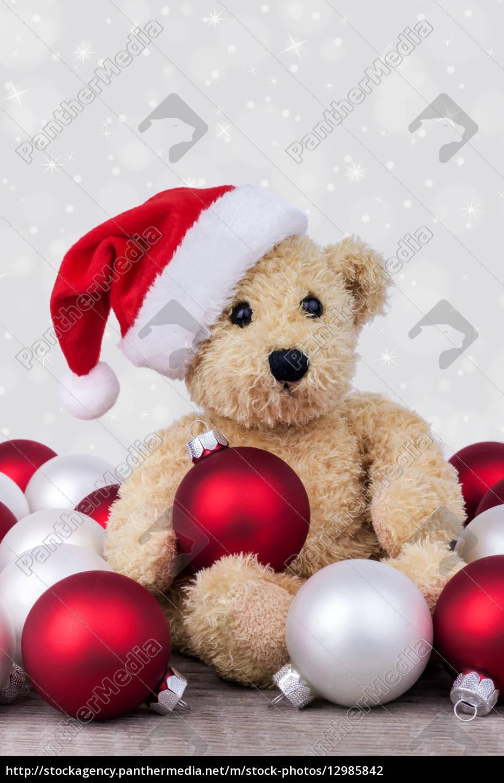 animali, orsacchiotto, natale, giocattoli, palle, giochi - 12985842