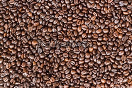 chiudere i chicchi di caffe