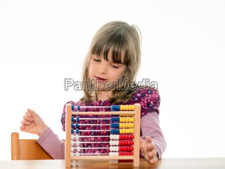 educazione imparare apprendere compiti numero abaco