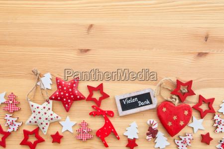 sfondo in legno con stelle natalizie