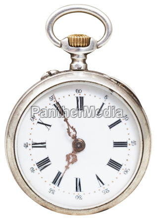 five minutes to seven oclock on