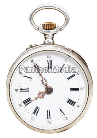 five minutes to eight oclock on