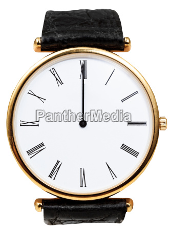 twelve oclock on dial of wristwatch