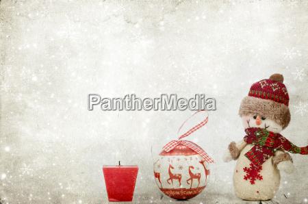 ornamento festa decorazione natale cristiano pupazzo