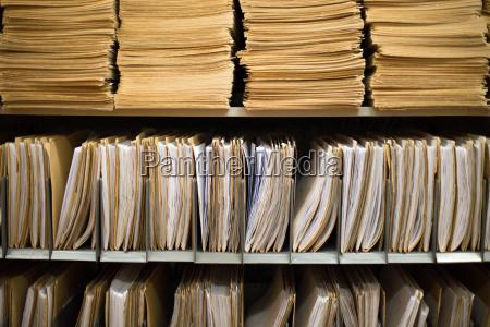ufficio archiviare amministrazione file