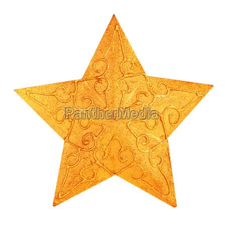 decorazione stella di natale doro