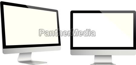pc computer moderno monitor schermo elettronico