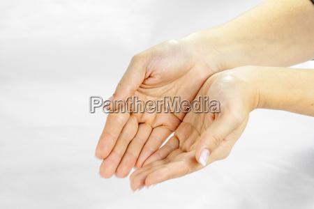 mano mani lavato aperto ricevere attingere