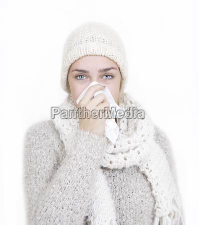 donna inverno freddo ritratto autunno