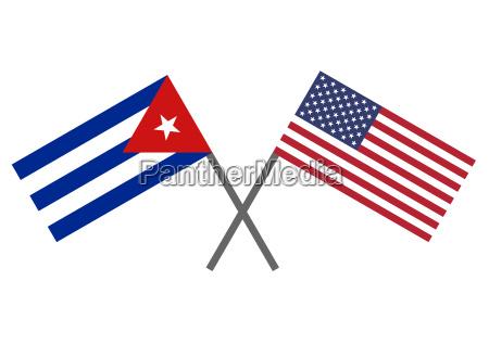 bandiera di cuba e stati uniti
