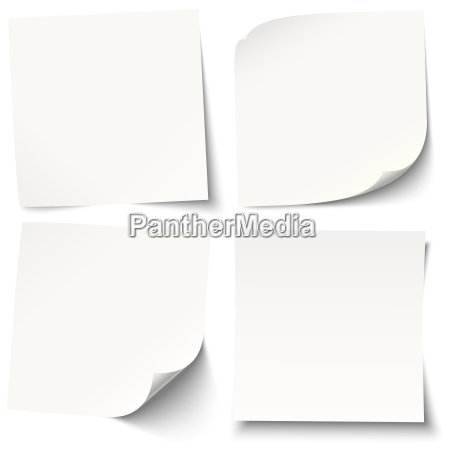 white note adesive con ombre diverse