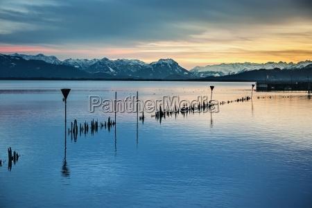 montagne alpi lago di costanza sguardo