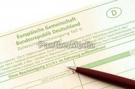 certificato di registrazione
