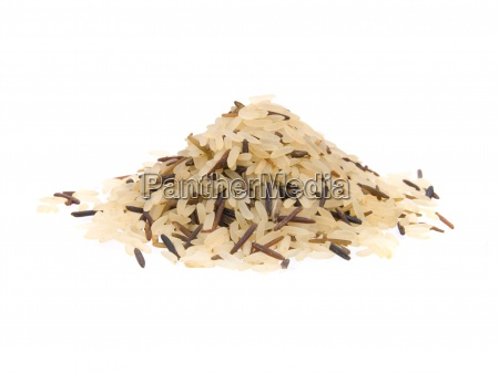 primo piano di riso lungo mescolato