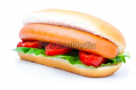 hot dog con verdure su sfondo