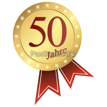 bottone oro tedesco anniversario 50 anni