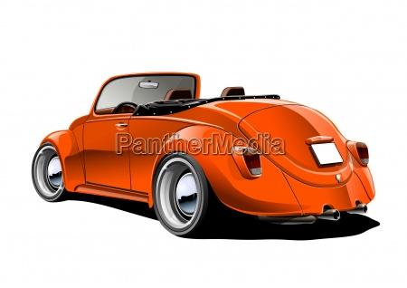 beetle convertible orange