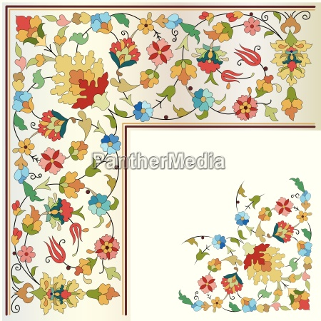 artistic ottoman pattern series twenty four
