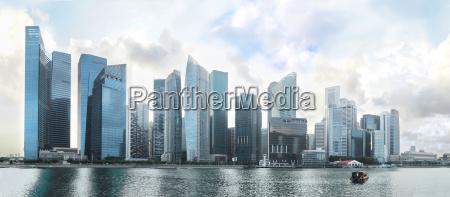 panorama di singapore downtown
