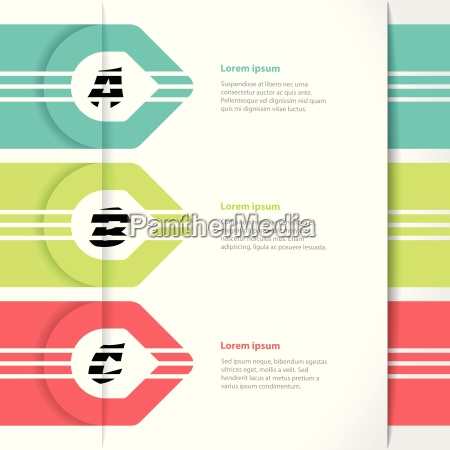 vivaci frecce colorate infografica design con