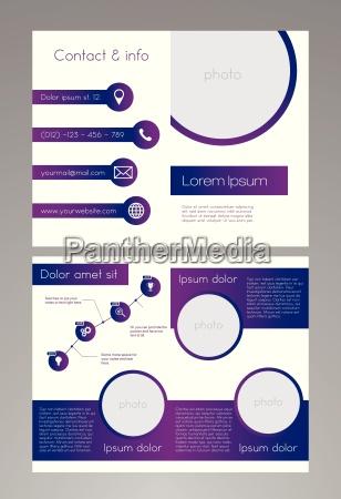 modello di brochure affari viola