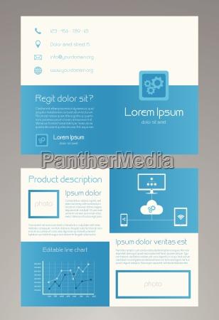 business brochure template in modern blue