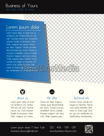 modello di flyer aziendale pulito