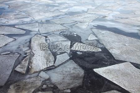 inverno freddo superficie ghiacciato congelare fiume