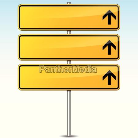 segnale stradale in bianco giallo