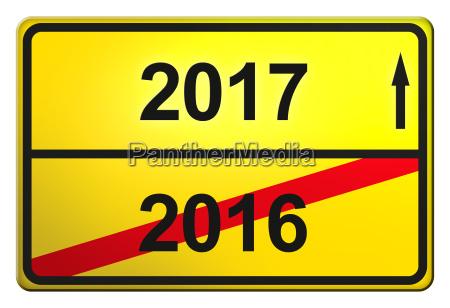 segnale cartello stradale capodanno anni anno