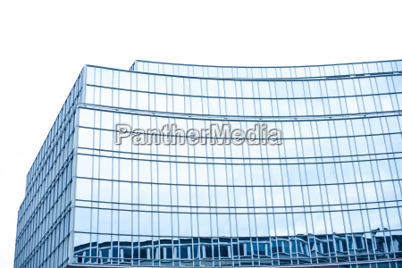 banca blu torre bicchiere ufficio dettaglio