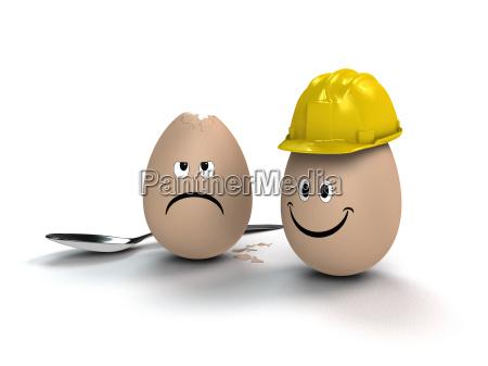 pasqua uovo casco divertente sicurezza sul