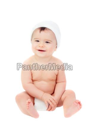 bambino neonato lattante capretto adorabile impertinente