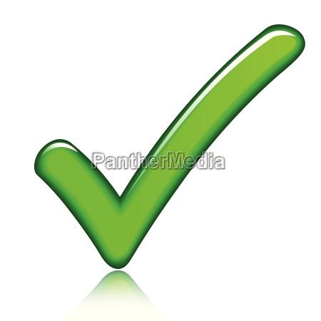 segno di spunta verde