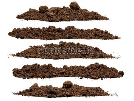 impostare la pila di terreno