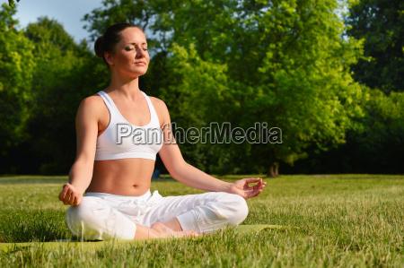 donna sport dello sport relax parco
