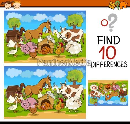 educazione illustrazione enigma fattoria trovare scoperta