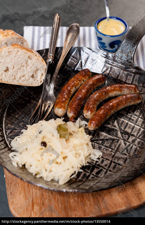 salsicce, arrosto, con, crauti, in, padella - 13550014