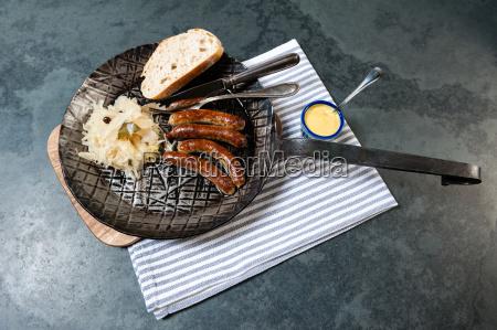 salsicce, di, ruggine, con, crauti, in - 13550016