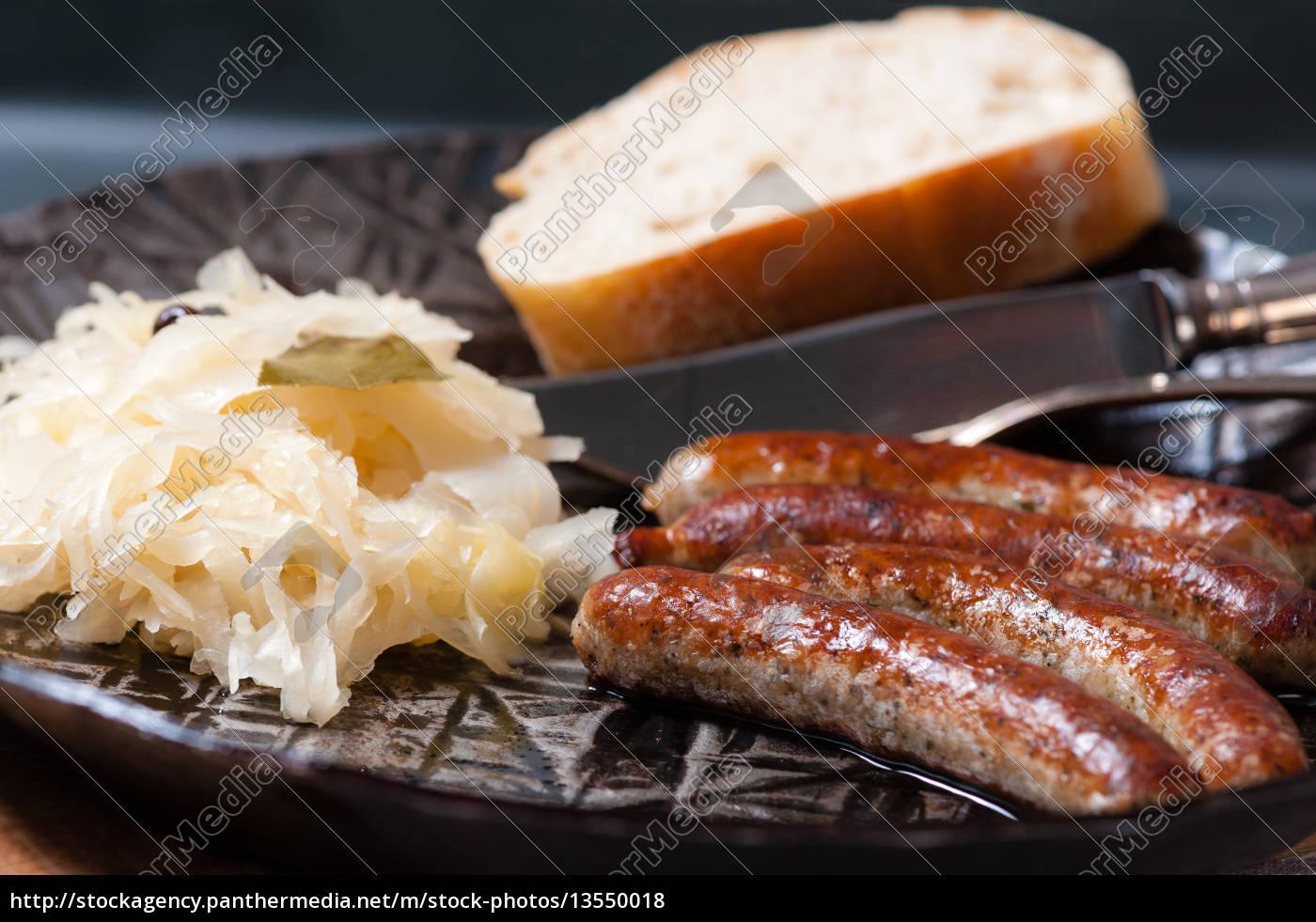 salsicce, di, ruggine, con, crauti, in - 13550018