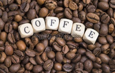 lettere fagioli espresso caffe ossidato chicchi