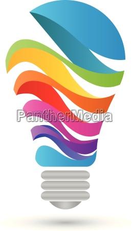 logo luce il colore digitale