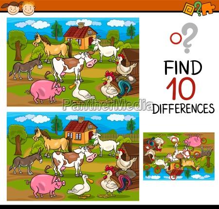 trovare differenze gioco cartone animato