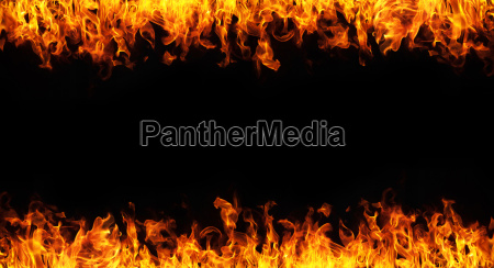 fire on white background