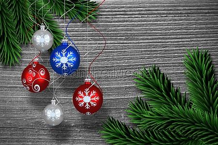 immagine composita della decorazione digitale della