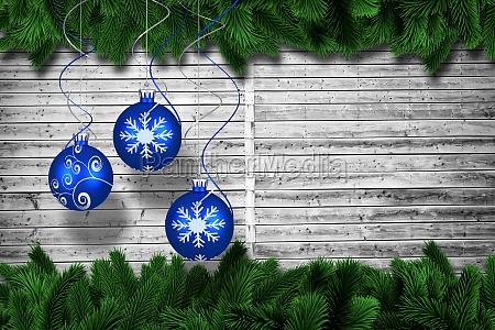 immagine composita di digitale appeso decorazione