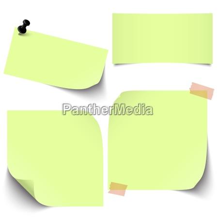 poca accumulazione di carta appiccicosa verde